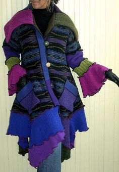 Gorgeous Brenda Abdullah recycled/upcycled sweater coat.
