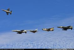 A-7E, F-4E, RF-4E, F-16C of Hellenic Air Force