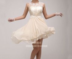 lace bridesmaid dress chiffon bridesmaid dress junior by okbridal, $120.00