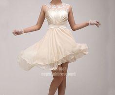 lace bridesmaid dress chiffon bridesmaid dress junior by okbridal, $120.00
