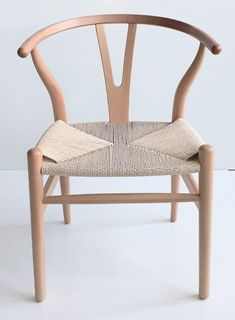 Replica Hans Wegner - Wishbone Finish: Solid Beech with natural wicker seatWidth: 46 Height: 74 Length: 42 Seat height: 44 Harry Bertoia, Hans Wegner, Wishbone Chair, Wicker, Dining Chairs, Wood, Cape Town, Waiting, African