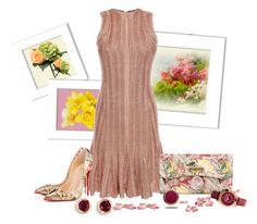 """""""Meeting up for brunch with friends"""" by whiteflower7 ❤ liked on Polyvore featuring mode, Alexander McQueen, Christian Louboutin, Marlin Birna et Kevin Jewelers"""