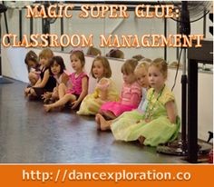 Teacher Tip of the Week! Using Magic Glue to teach Waiting Turns when going across the floor. http://dancexploration.co (Photo Courtesy: Todd Strong Photography)