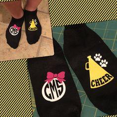 Cheer Socks for cheer camp cheer gift.