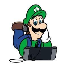 Super Mario x Nintendo Switch - Luigi by StudioPEP on Deviantart Super Mario Bros, Super Mario Brothers, Super Mario Kunst, Super Mario World, Super Smash Bros, Mario Und Luigi, Mario Bros., Luigi's Mansion 3, Mundo Dos Games