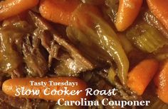 Slow Cooker Roast and veggies - it's what's for dinner!