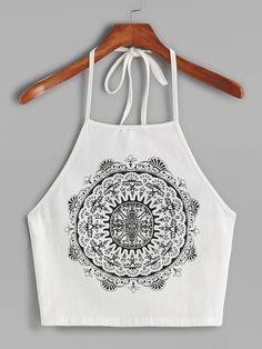 White+Vintage+Circle+Print+Halter+Neck+Cami+Top+13.00
