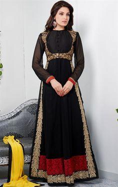 Picture of Impressive Black Color Designer Salwar Kameez