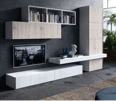 Amazing Wall Storage Items For Your Contemporary Living Room - Floating wall storage is a mixture of sensible storage and residential décor vogue the place the storage unit is mounted to the wall and is used to handle CDs and DVDs. Living Room Tv Unit, Living Room Modern, Home And Living, Living Room Decor, Contemporary Living Room Designs, Contemporary Tv Units, Rustic Contemporary, Cozy Living, Modern Rustic