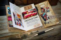 Travel Journal made with Tim Holtz supplies