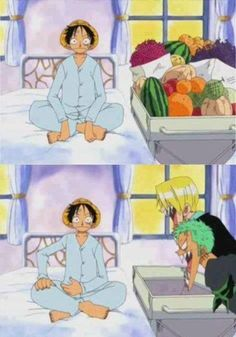 One Piece ~ Monkey D. Luffy -- he was so hungry, he didn't realize that he didn't eat meat Anime D, Otaku Anime, Anime Comics, Anime Stuff, Zoro, Susanoo Naruto, One Piece Crew, One Piece Funny, The Pirate King