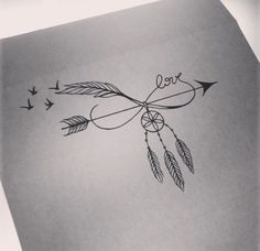 Arrow/ Infinite/ Dream Catcher/ Bird Tattoo