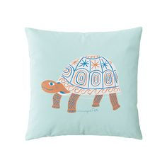 Wayne Pate Turtle Pillow Cover | Serena & Lily