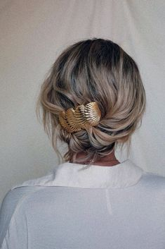 Geometric hair accessory metal pony tail tie square hair cuff boho hair accessories brass pony tail holder hair jewelry gift for her Ball Hairstyles, Wedding Hairstyles, School Hairstyles, Natural Hairstyles, Short Hair Bride Hairstyles, Elegant Hairstyles, Headband Hairstyles, Elegant Wedding Hair, Boho Wedding