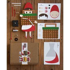 DIY Little Red Riding Hood clock   Cappuccetto Rosso Fai Da Te