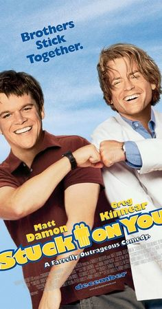 Directed by Bobby Farrelly, Peter Farrelly. With Matt Damon, Greg Kinnear, Eva Mendes, Cher. Conjoined twins from Martha's Vineyard move to Los Angeles so that one of them can pursue an acting career.