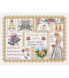 Janlynn Counted Cross Stitch Kit Wedding Collage