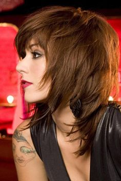 Inspiration discovered by LuLu Pete. Great edgy hair and makeup ! @bloomdotcom