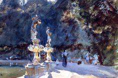 Florence: Fountain, Boboli Gardens  John Singer Sargent
