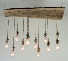 Salvaged Live Edge Wood Chandelier with Victorian by urbanchandy, $425.00    swoon