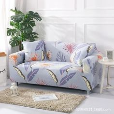 Sofa Cover Slipcovers Elastic Couch Case for Different Shape Interior Design Living Room, Living Room Decor, Bedroom Decor, Design Interior, Furniture Covers, Diy Furniture, Couch Covers, Slipcovers For Chairs, Home Hacks