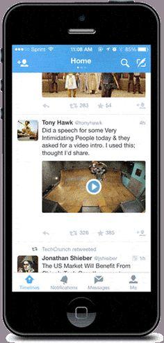 ONE: Twitter ya reproduce videos, Vines y GIF animados en forma automática