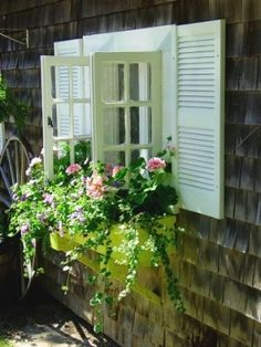 love the window box, window, and shutters for cottage!