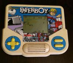 VINTAGE PAPERBOY Handheld Electronic LCD Video Game Tiger Electronics ARCADE