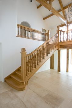 The left hand side of a bespoke timber imperial staircase.