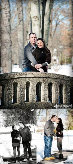Lorena & Tim's January 2016 #engagement #portrait at Mindowaskin Park! | photo by deanmichaelstudio.com | #njengagement #newjerseyengagement #love #winter #photography #DeanMichaelStudio