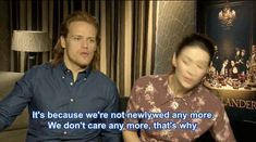 """Outlander"" Stars Sam Heughan And Caitriona Balfe Reveal Just How Well They Know Each Other"