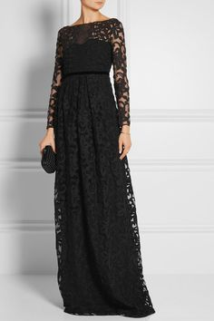 Burberry Prorsum   Embroidered cotton-blend tulle gown   NET-A-PORTER.COM