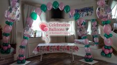 Minnie Mouse 1st Birthday arch from www.balloonsleeds.com Christening Balloons, Balloon Pictures, Celebration Balloons, Minnie Mouse 1st Birthday, Wakefield, Decorate Your Room, The Balloon, Leeds, New Baby Products
