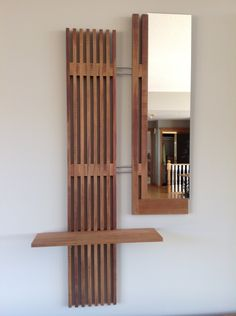 Items similar to Parallel Reflections Cedar Mirror Shelf on Etsy Decor, Wall, Wood, Wall Art, Furniture, Wood Wall Art, Home Decor, Mirror, Etsy