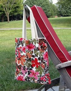 tote tricks - use not-so-cute canvas tote as lining with your own fabric for outside - add pocket inside too