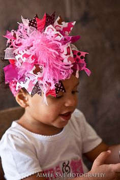 Rhinestone Cowgirl Over the Top Hair bow...and matching Headband on Etsy, $19.99