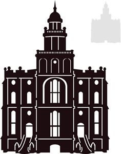 Salt Lake City Temple Silhouette Clipart | cutting | Pinterest ...