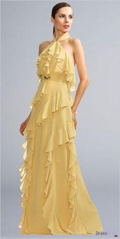 Wedding Guest Dresses Yellow V Neck Less - Dress Inspiration for Women