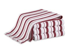 Williams-Sonoma Striped Towels, Claret | I buy several sets of these each year.  LOVE them!