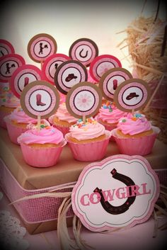 Cupcakes from a Cowgirl Party #cowgirlparty #cupcakes