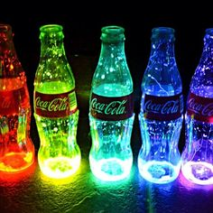 Neon Coke bottles