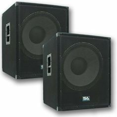 """Seismic Audio - Enforcer II PW - Pair of Powered PA 18"""" Subwoofer Speaker Cabinets by Seismic Audio. $864.99. Pair of Powered PA 18"""" Subwoofer Speaker CabinetsModel - Enforcer II PW (Pair)Subwoofer - 18""""120 oz magnet4"""" Voice Coil1200 Watts RMSLine Output - 1/4"""" and XLR Combo JackLine Input - 1/4"""" and XLR Combo JackPower Output - SpeakonVolume ControlLPF (Low Pass Filter) - 45Hz - 800HzClip LightPower LightCan be Daisy ChainedWired at 8 ohmsSensitivity: 101 db5/8 PlywoodBlack carp..."""