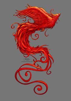 Phoenix Design Art Print by Christos Karapanos #firebird #fantasy