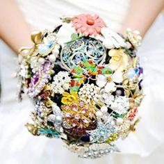 Amazing broach bouquet wedding designer.