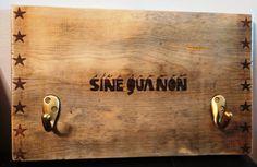 Sine Qua Non Wine Crate Wood Panel Wall Rack by myhandymam on Etsy