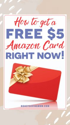 How To Get A Free $5 Amazon Gift Card Right Now! Here is a ridiculously easy way to snag a free $5 Amazon gift card. Save them throughout the year to add to your Christmas Budget! #amazongiftcard #freeamazongiftcard #shopkicks #freegiftcard #holidaysavings #amazonshopping #freegiftcards Living On A Budget, Frugal Living Tips, Frugal Tips, Gift Cards Money, Free Gift Cards, Christmas On A Budget, Holiday, Setting Up A Budget, Amazon Card