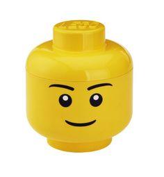 Giant lego head used as storage