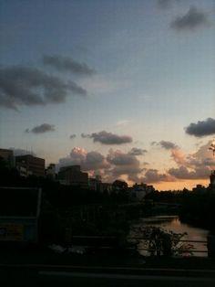 新見附橋の夕暮れ:魚の庭 2011-09-11