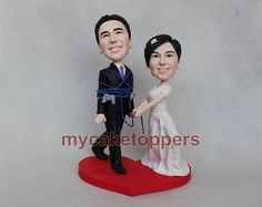 custom wedding cake toppers no plaing game I tie up by dealeasynet, $120.00