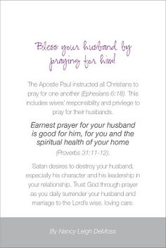 Lindsay Louise Thomas: Praying For Your Husband - ALL